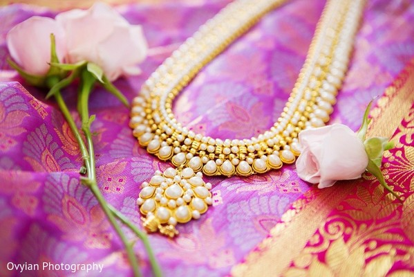 Bridal Jewelry in Toronto, Canada South Indian Fusion Wedding by Ovyian Photography
