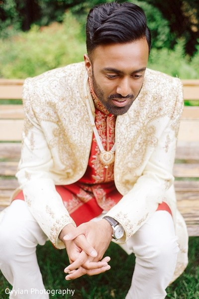 Groom Fashion in Toronto, Canada South Indian Fusion Wedding by Ovyian Photography