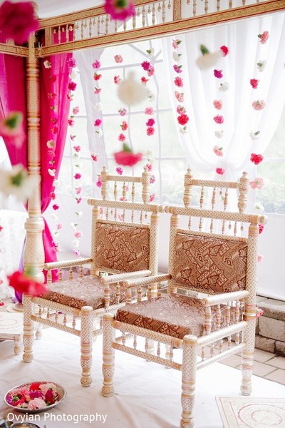 Ceremony Decor in Toronto, Canada South Indian Fusion Wedding by Ovyian Photography