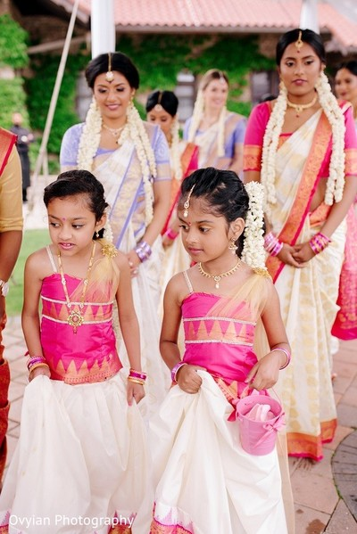 Ceremony in Toronto, Canada South Indian Fusion Wedding by Ovyian Photography