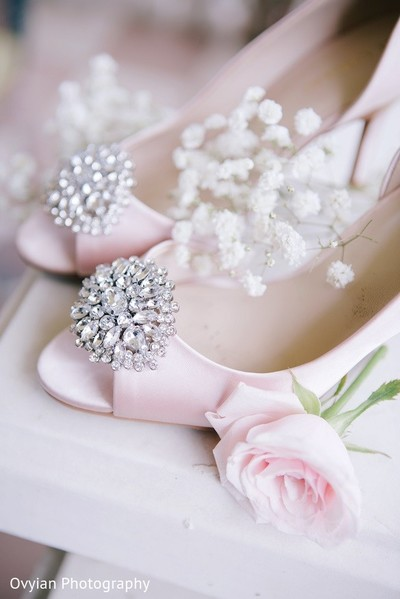 Shoes in Toronto, Canada South Indian Fusion Wedding by Ovyian Photography
