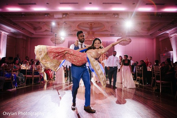 Reception in Toronto, Canada South Indian Fusion Wedding by Ovyian Photography
