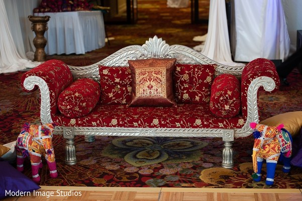 Sangeet Decor in Lincolnshire, IL Indian Wedding by Modern Image Studios