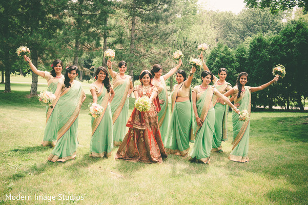 Bridal Party in Lincolnshire, IL Indian Wedding by Modern Image Studios