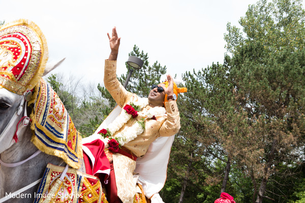 Baraat in Lincolnshire, IL Indian Wedding by Modern Image Studios