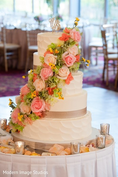 Wedding Cake in Lincolnshire, IL Indian Wedding by Modern Image Studios