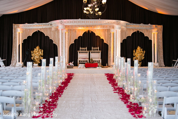 Ceremony Decor in Chicago, IL Indian Wedding by Joseph Kang Photography