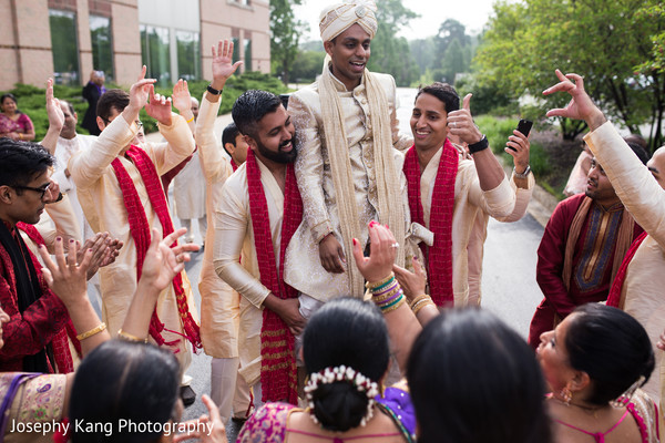 Baraat in Chicago, IL Indian Wedding by Joseph Kang Photography