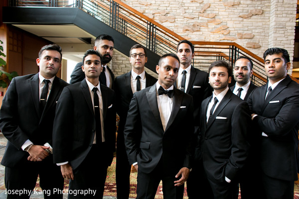 Groomsmen in Chicago, IL Indian Wedding by Joseph Kang Photography