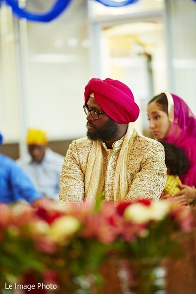Ceremony in Douglaston, NY Sikh Fusion Wedding by Le Image Photo