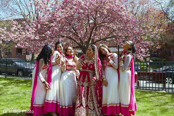 Bridal Party in Douglaston, NY Sikh Fusion Wedding by Le Image Photo