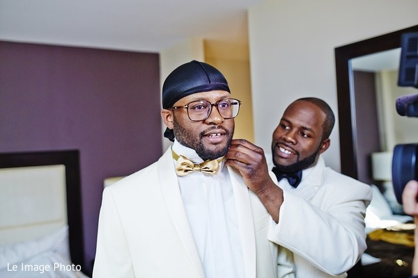 Groom Getting Ready in Douglaston, NY Sikh Fusion Wedding by Le Image Photo