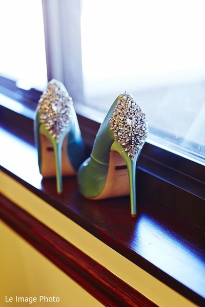 Shoes in Douglaston, NY Sikh Fusion Wedding by Le Image Photo
