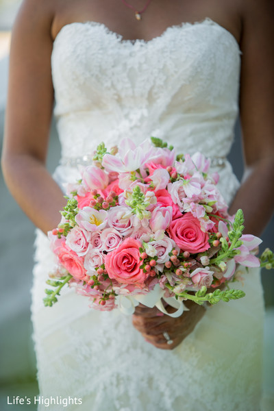 Bouquet in Tampa, FL South Indian Fusion Wedding by Life's Highlights
