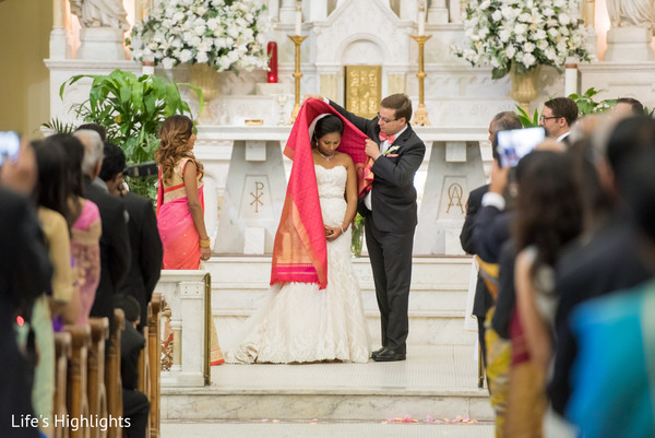 Ceremony in Tampa, FL South Indian Fusion Wedding by Life's Highlights