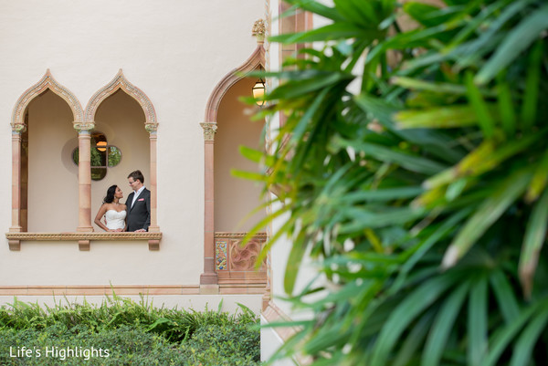 Wedding Portrait in Tampa, FL South Indian Fusion Wedding by Life's Highlights