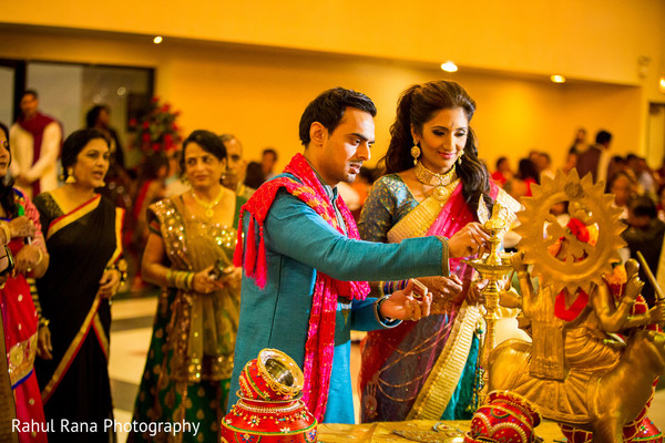 Garba in Oakbrook Terrace, IL Indian Wedding by Rahul Rana Photography