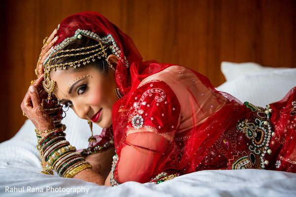 Bridal Portrait in Oakbrook Terrace, IL Indian Wedding by Rahul Rana Photography