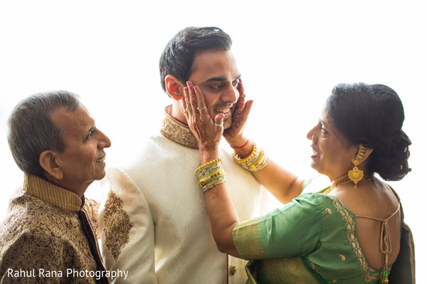 Groom Getting Ready in Oakbrook Terrace, IL Indian Wedding by Rahul Rana Photography
