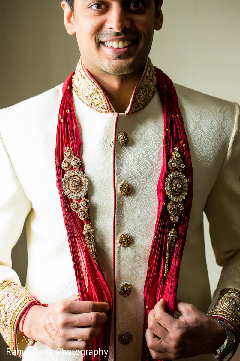 Groom Getting Ready in Oakbrook Terrace, IL Indian Wedding by Rahul ...