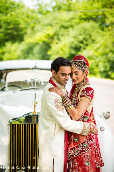 First Look in Oakbrook Terrace, IL Indian Wedding by Rahul Rana Photography