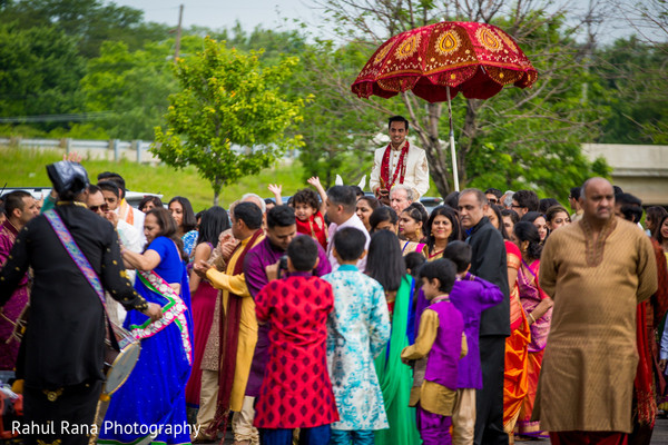 Baraat in Oakbrook Terrace, IL Indian Wedding by Rahul Rana Photography