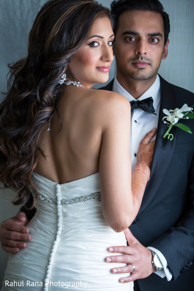 Reception Portrait in Oakbrook Terrace, IL Indian Wedding by Rahul Rana Photography