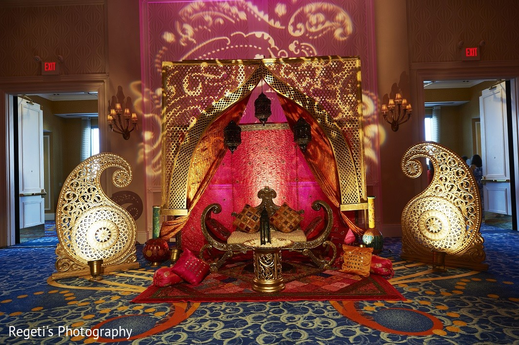 Garba Decor In Norfolk VA Hindu Fusion Wedding By Regetis Photography