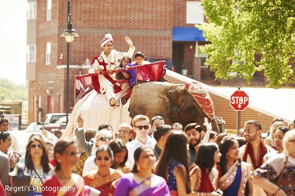 Baraat in Norfolk, VA Hindu Fusion Wedding by Regeti's Photography