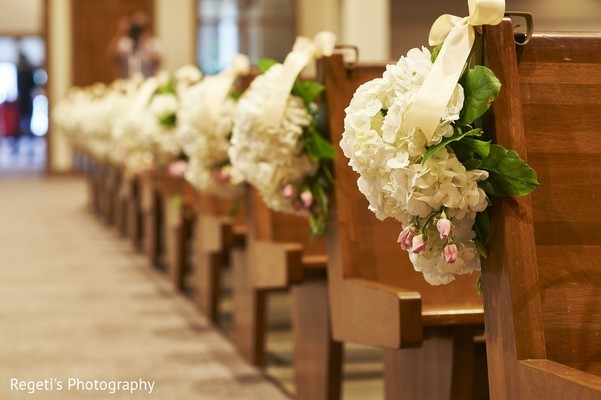 Ceremony Decor in Norfolk, VA Hindu Fusion Wedding by Regeti's Photography