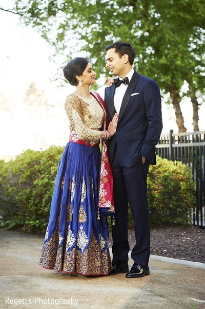 Reception in Norfolk, VA Hindu Fusion Wedding by Regeti's Photography