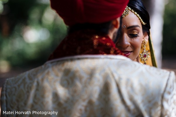 First Look in San Jose, CA Sikh Wedding by Matei Horvath Photography
