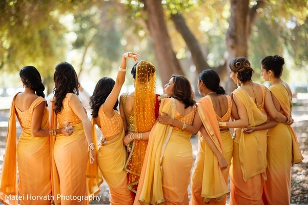 Bridal Party in San Jose, CA Sikh Wedding by Matei Horvath Photography
