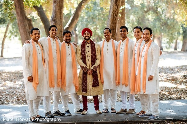 Groomsmen in San Jose, CA Sikh Wedding by Matei Horvath Photography