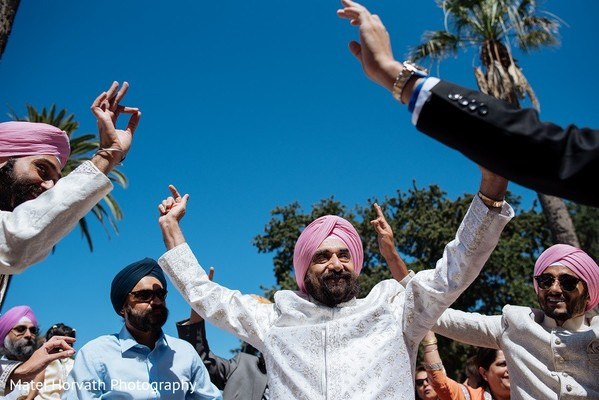 Baraat in San Jose, CA Sikh Wedding by Matei Horvath Photography