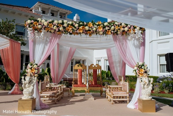 Mandap in San Jose, CA Sikh Wedding by Matei Horvath Photography