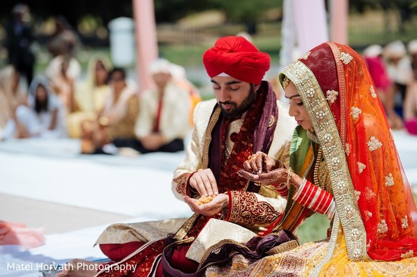 Ceremony in San Jose, CA Sikh Wedding by Matei Horvath Photography