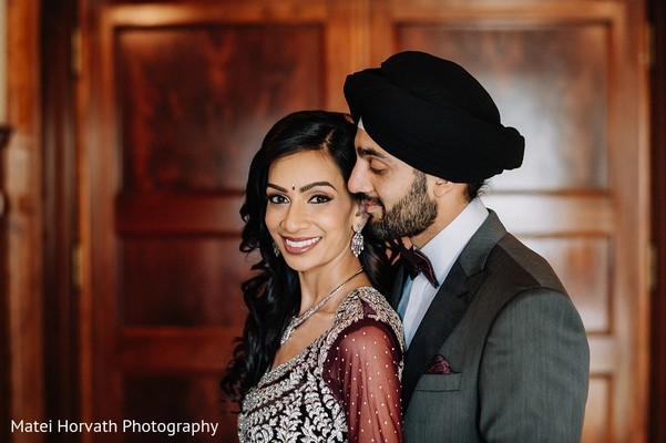 Reception Portrait in San Jose, CA Sikh Wedding by Matei Horvath Photography