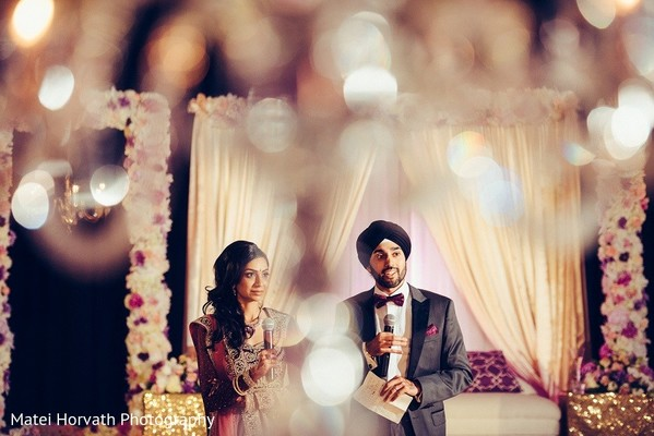 Reception in San Jose, CA Sikh Wedding by Matei Horvath Photography