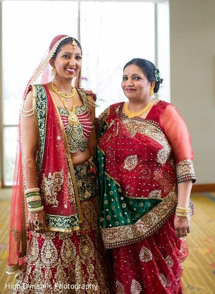Bridal Portrait in Itasca, IL Indian Wedding by High Dynamic Photography