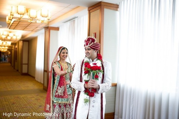 First Look in Itasca, IL Indian Wedding by High Dynamic Photography