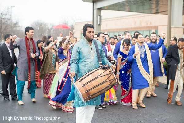 Baraat in Itasca, IL Indian Wedding by High Dynamic Photography