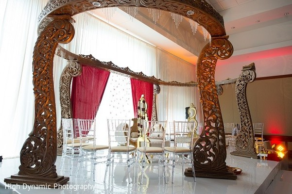 Mandap in Itasca, IL Indian Wedding by High Dynamic Photography