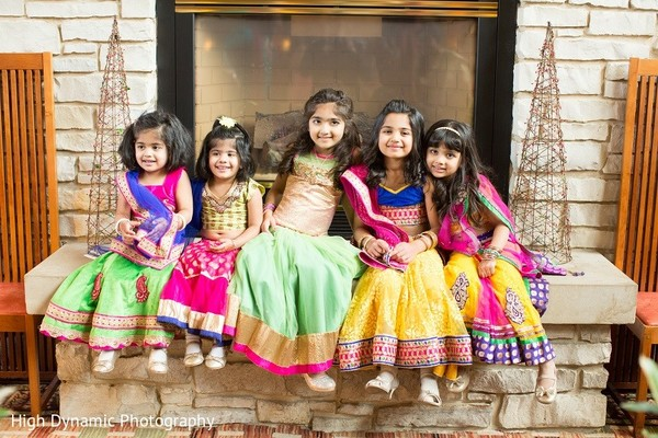 Flower Girls in Itasca, IL Indian Wedding by High Dynamic Photography