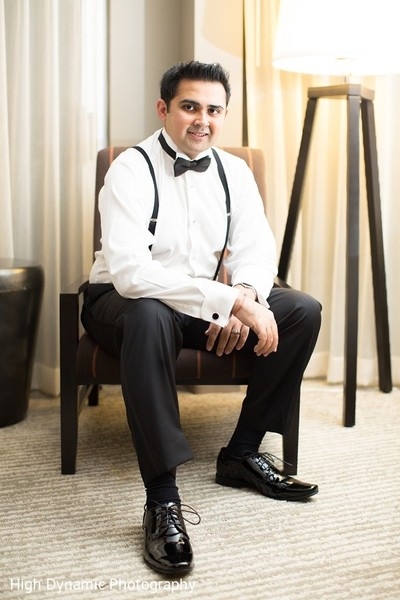 Groom Fashion in Itasca, IL Indian Wedding by High Dynamic Photography