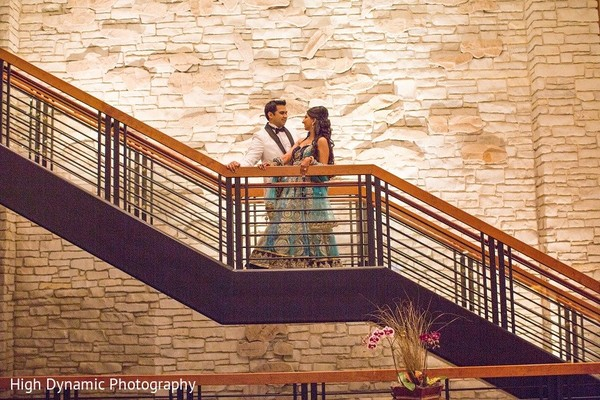 Reception Portrait in Itasca, IL Indian Wedding by High Dynamic Photography