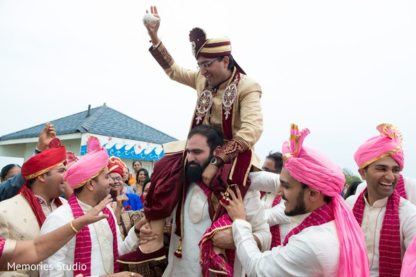 Baraat in Long Branch, NJ Indian Wedding by Memories Studio