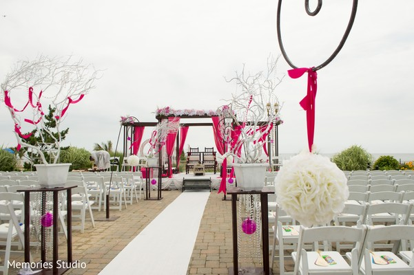 Ceremony Decor in Long Branch, NJ Indian Wedding by Memories Studio