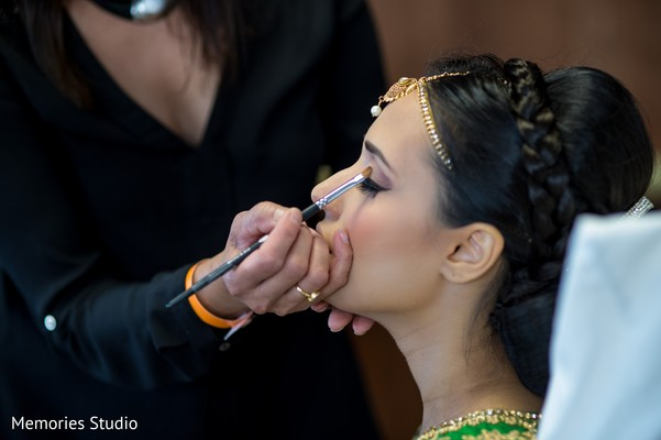 Hair and Make-up in Long Branch, NJ Indian Wedding by Memories Studio