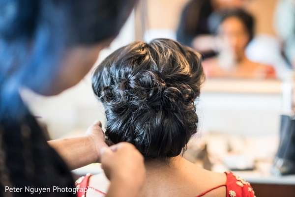Hair in Atlanta, GA Indian Wedding by Peter Nguyen Photography
